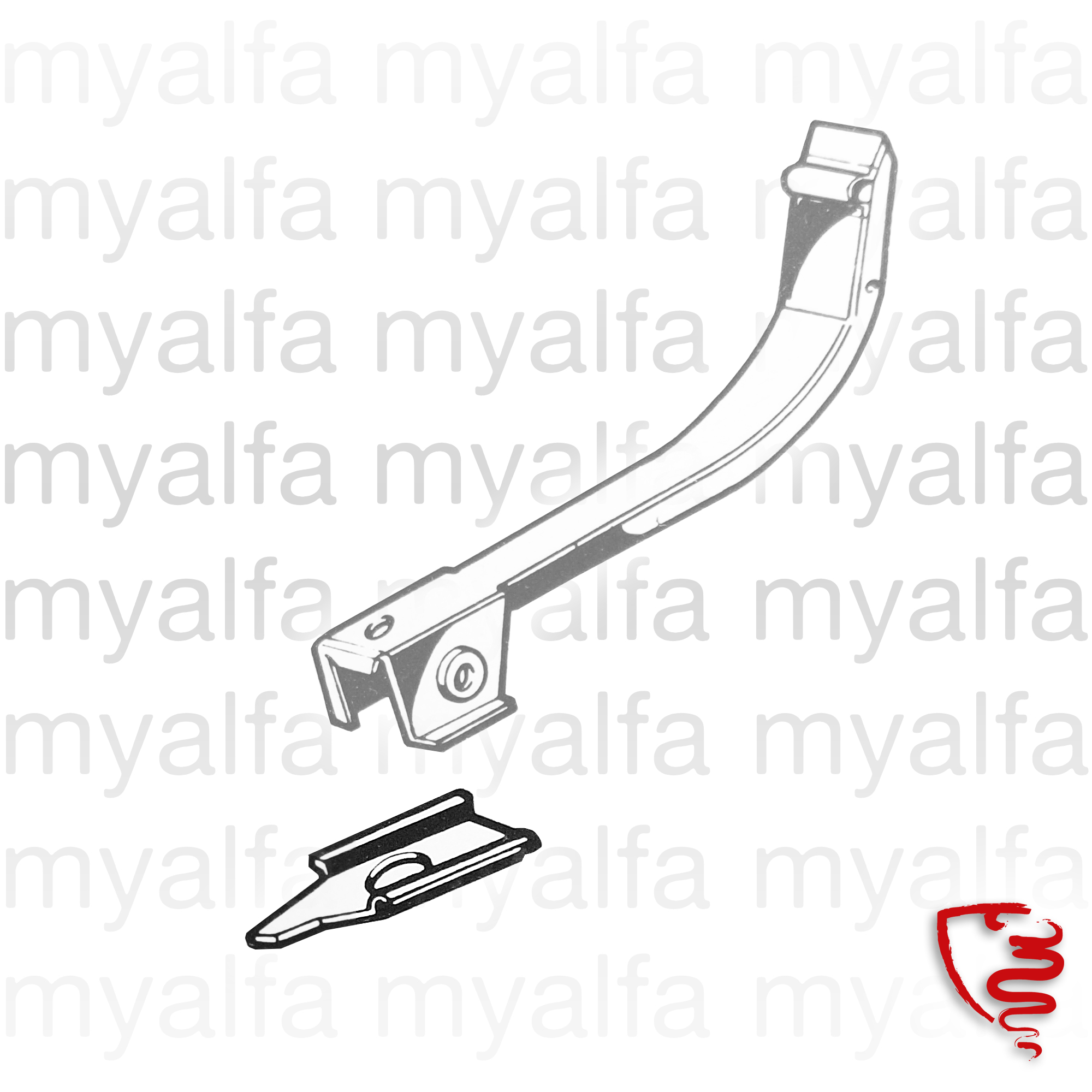 A reinforcing sheet w / chassis suspension arm for 105/115, Coupe, Body parts, Panels, Floor