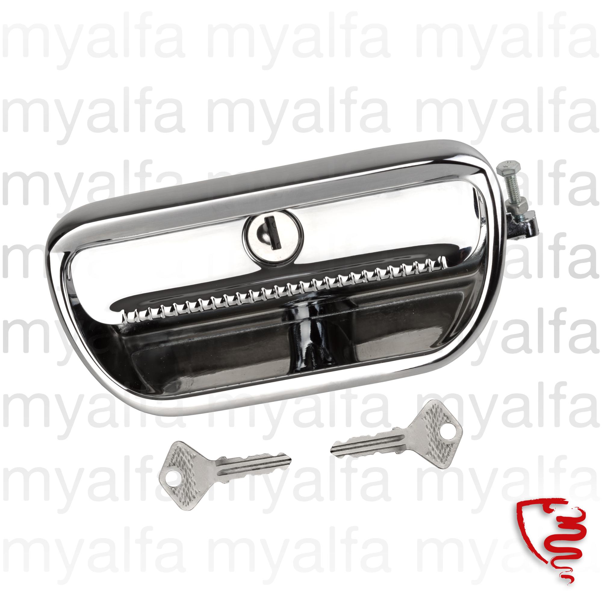 Door handle Left GT Bertone for 105/115, Coupe, Body parts, Chrome Parts, Door