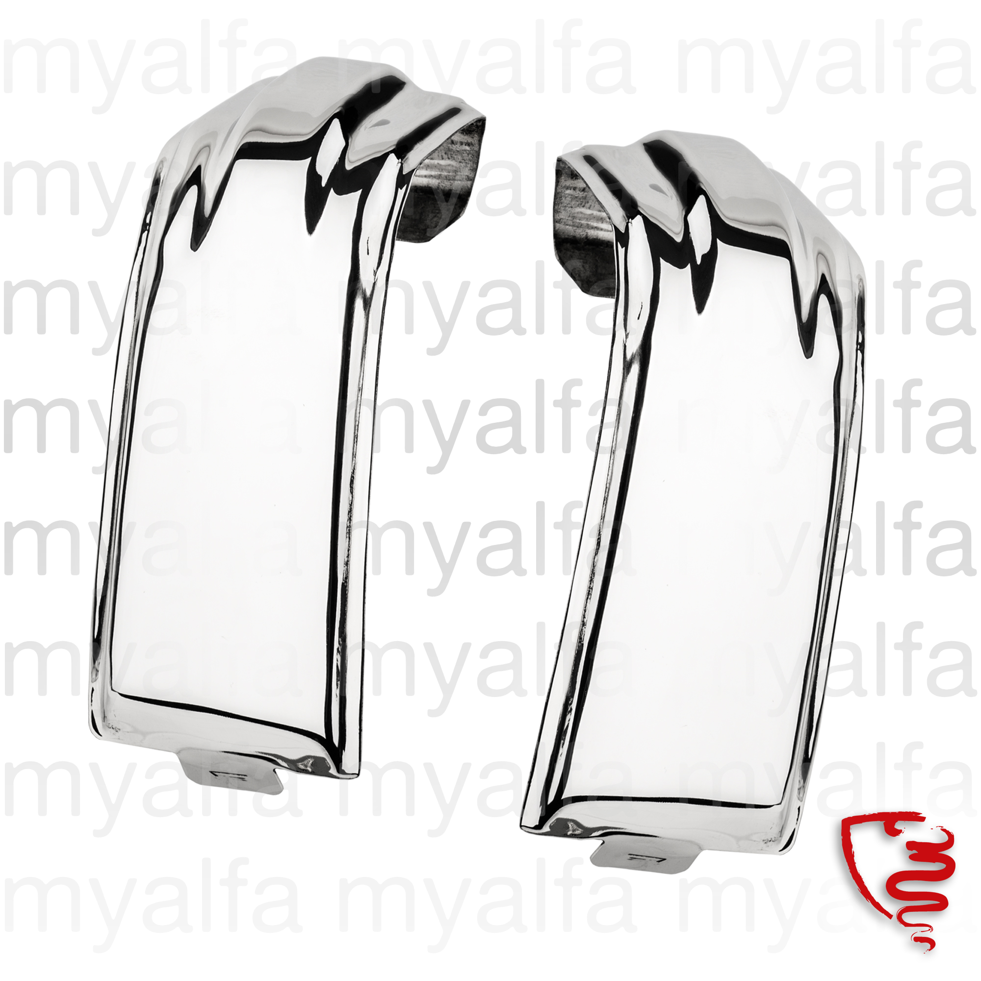 Set covers the joints of rear bumpers for 105/115, Coupe, Body parts, Chrome Parts, Rear
