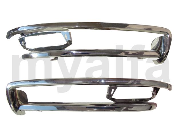 Game bumpers front - Spider / Duetto 66-69 for 105/115, Spider, Body parts, Chrome Parts, Front