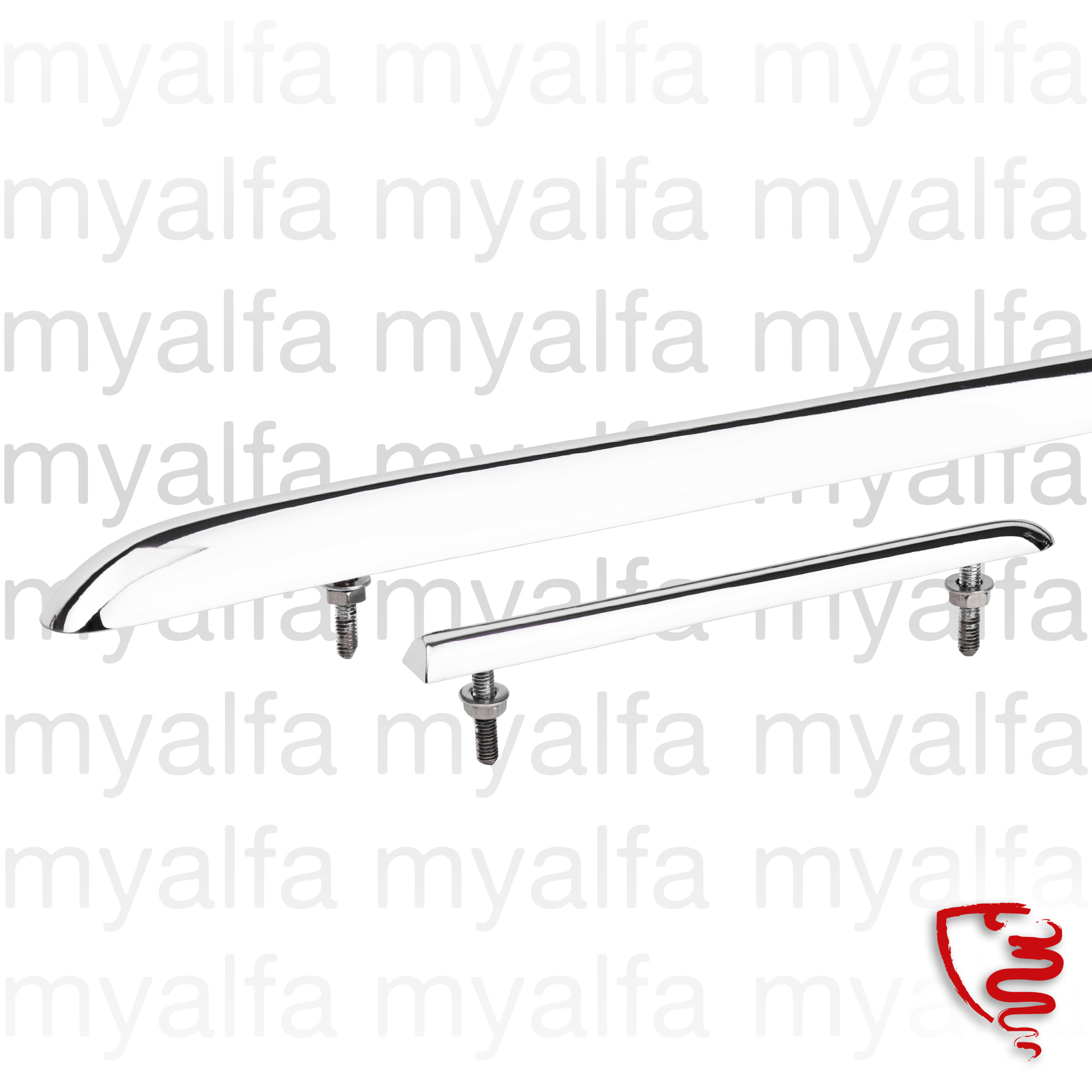 Crimp bonnet Giulietta Spider 1300 (750/101) for 750/101, Spider, Body parts, Chrome Parts, Front