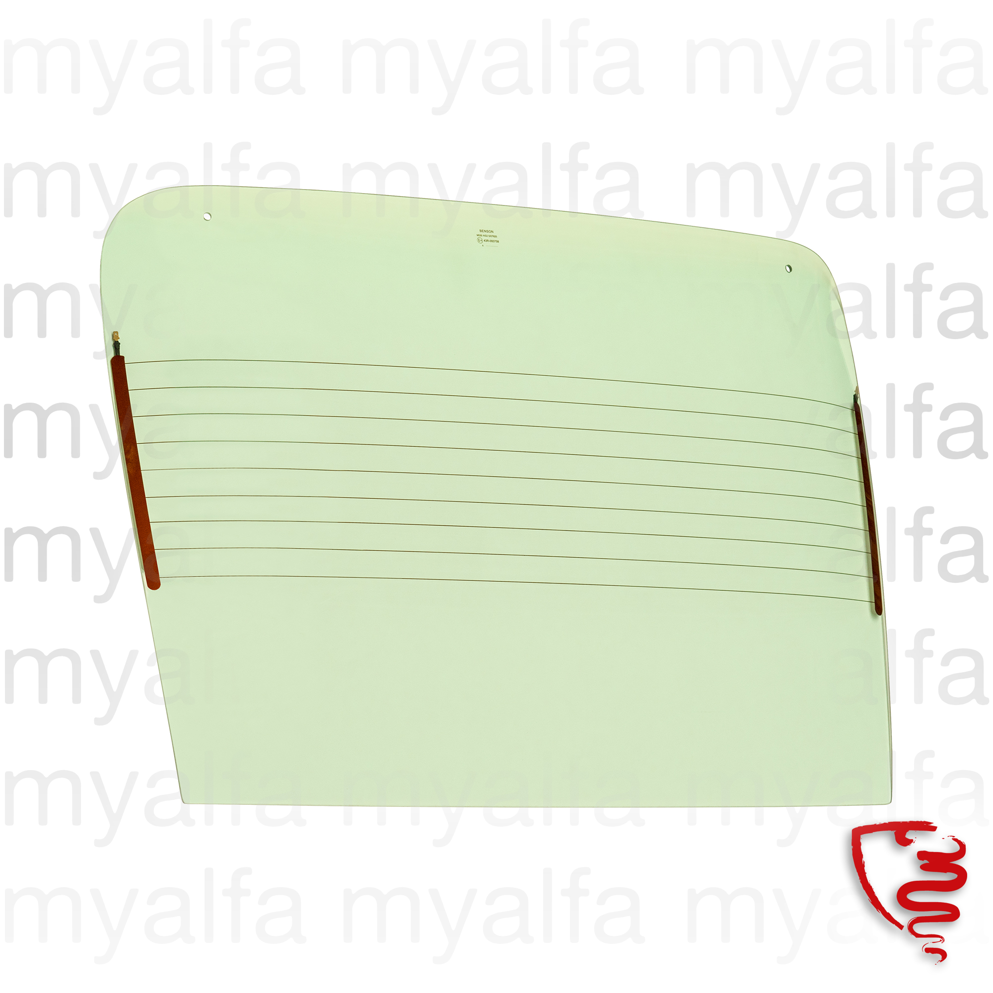 Green rear windscreen - Montreal for Montreal, Body parts, Glass Parts, Front/Rear Windows