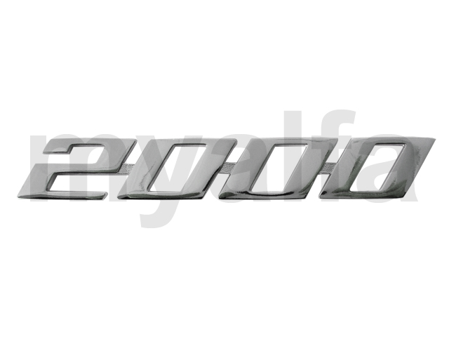 Script '2000' Spider 1970-82 for 105/115, Coupe, 2000, Body parts, Emblems, badges and scripts, Emblems