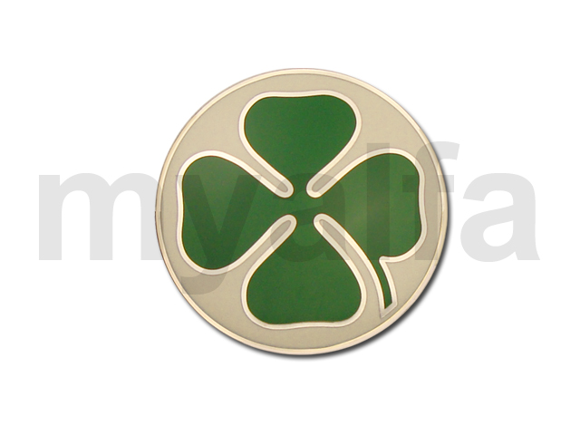 Badge Quadrifoglio White / Green Law for 750/101, Body parts, Emblems, badges and scripts, Badges
