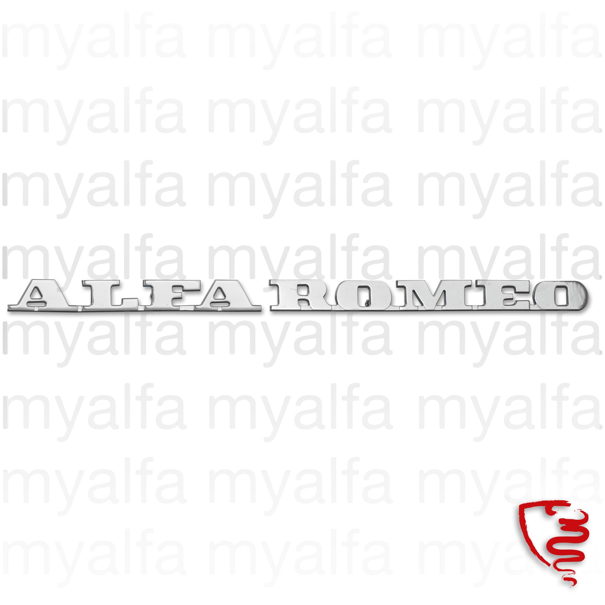 Script 'ALFA ROMEO' for 105/115, Montreal, Body parts, Emblems, badges and scripts, Emblems