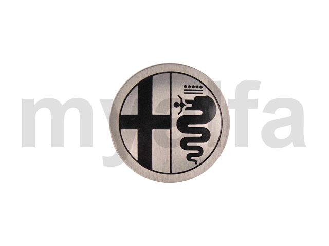 Emblem in Black with silver background for 105/115, Chassis Mount, Wheels, Rim Emblems