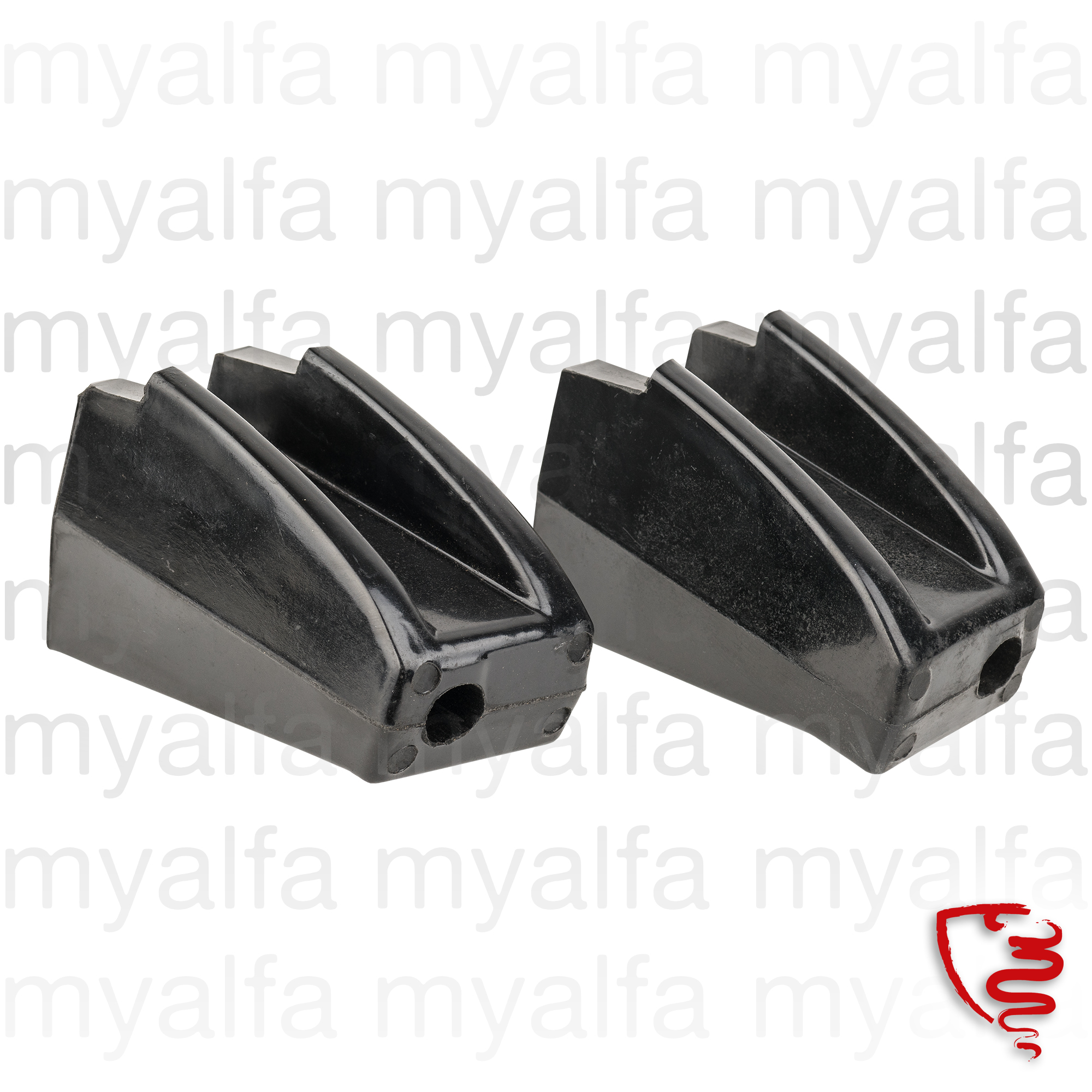 Set of bumper stops / body for 105/115, Coupe, 2000, Body parts, Chrome Parts, Front