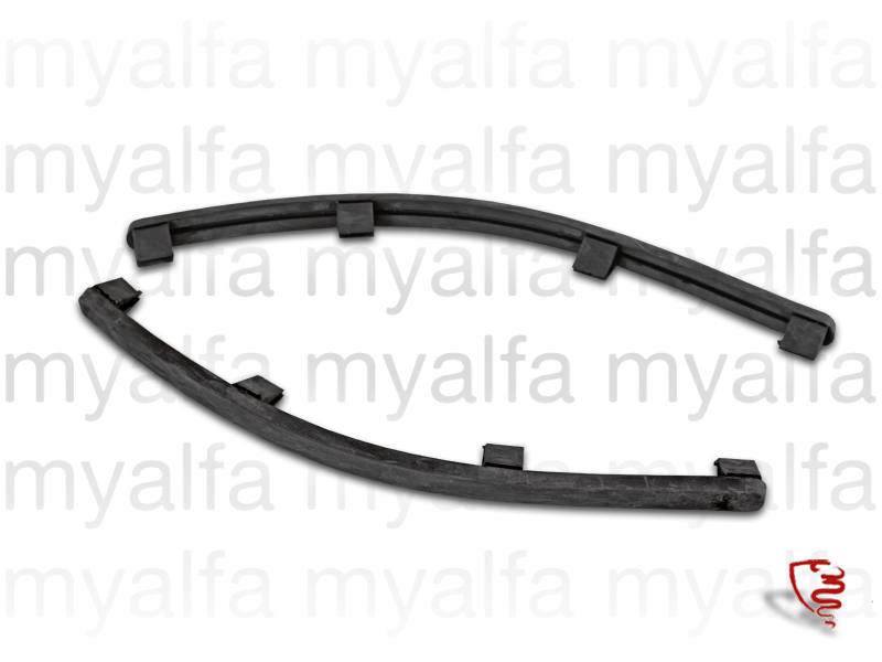 Set of rear bumper rubber Spider 66-69 for 105/115, Spider, Body parts, Chrome Parts, Rear