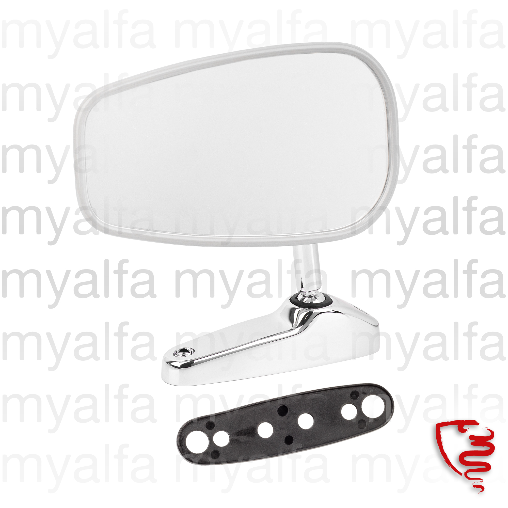 Oval Mirror with badge type vitaloni for 105/115, Body parts, Chrome Parts, Mirror