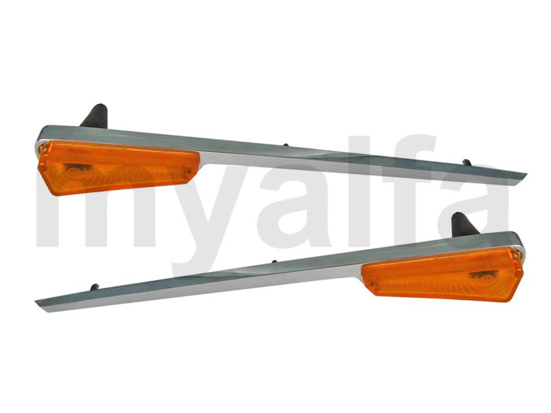 Set side turn signal c / long chrome for 105/115, Giulia, Body parts, Lighting, Indicators