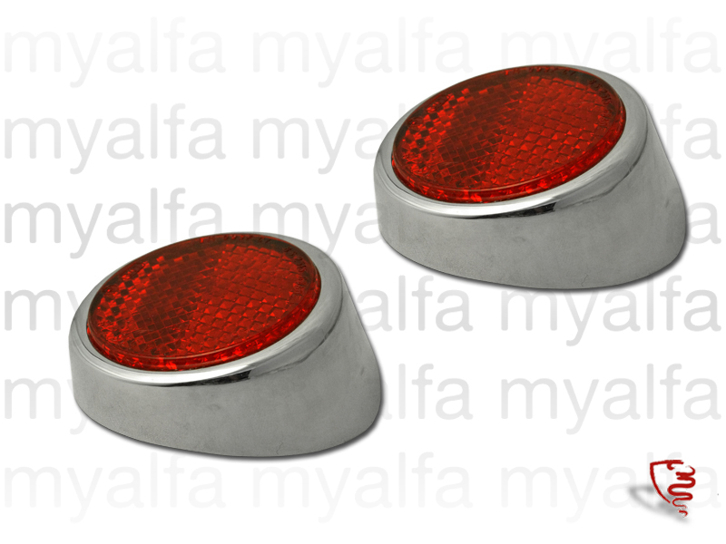 Set of tail lamps reflectors giulietta spider 2nd series for 750/101, Spider, Body parts, Lighting, Tail lights