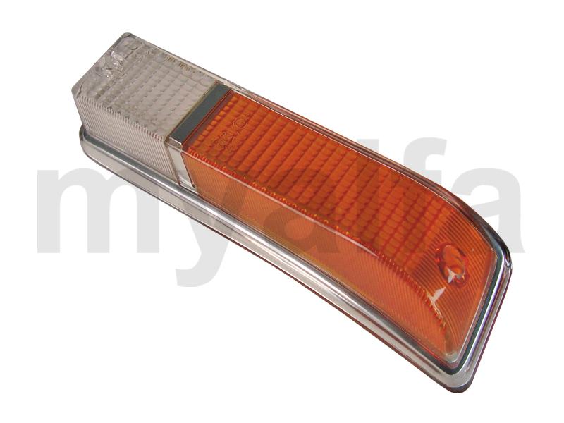 Taillight lens GT Bertone 1970-77 orange / white front Esqº for 105/115, Coupe, Body parts, Lighting, Indicators