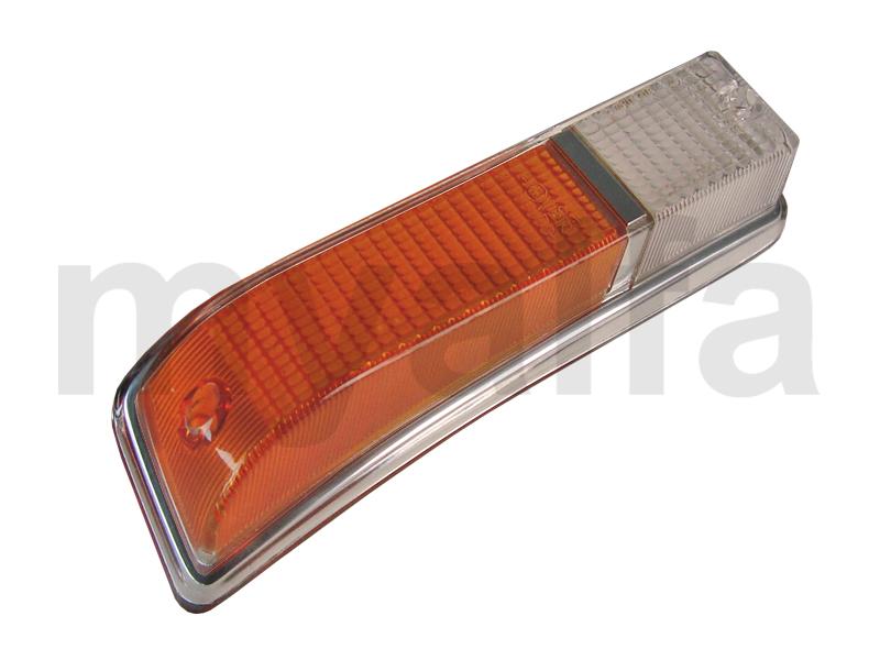 Taillight lens GT Bertone 1970-77 orange / white front drtº for 105/115, Coupe, Body parts, Lighting, Indicators