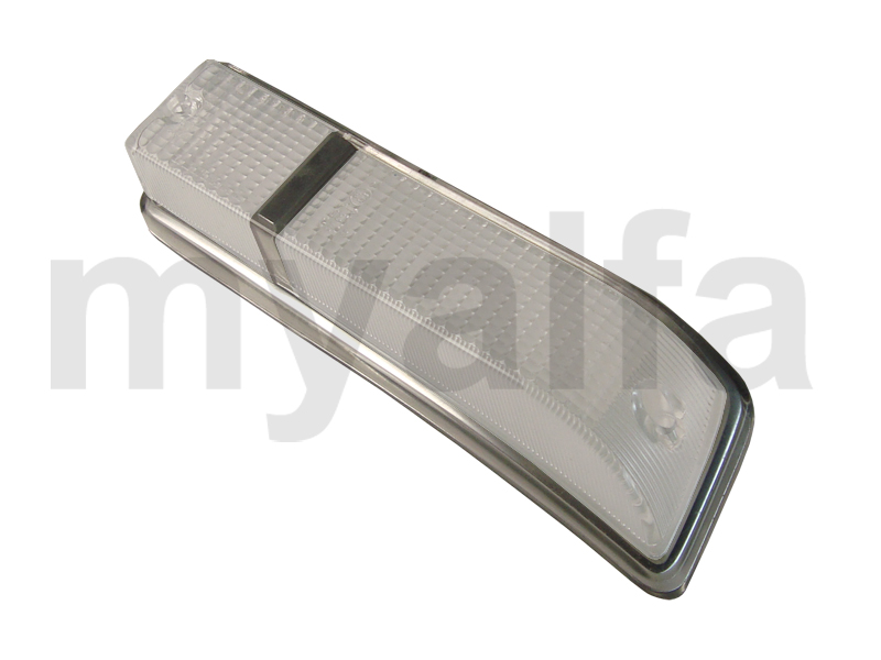 Taillight lens GT Bertone 1970-77 white / white front Esqº for 105/115, Coupe, Body parts, Lighting, Indicators