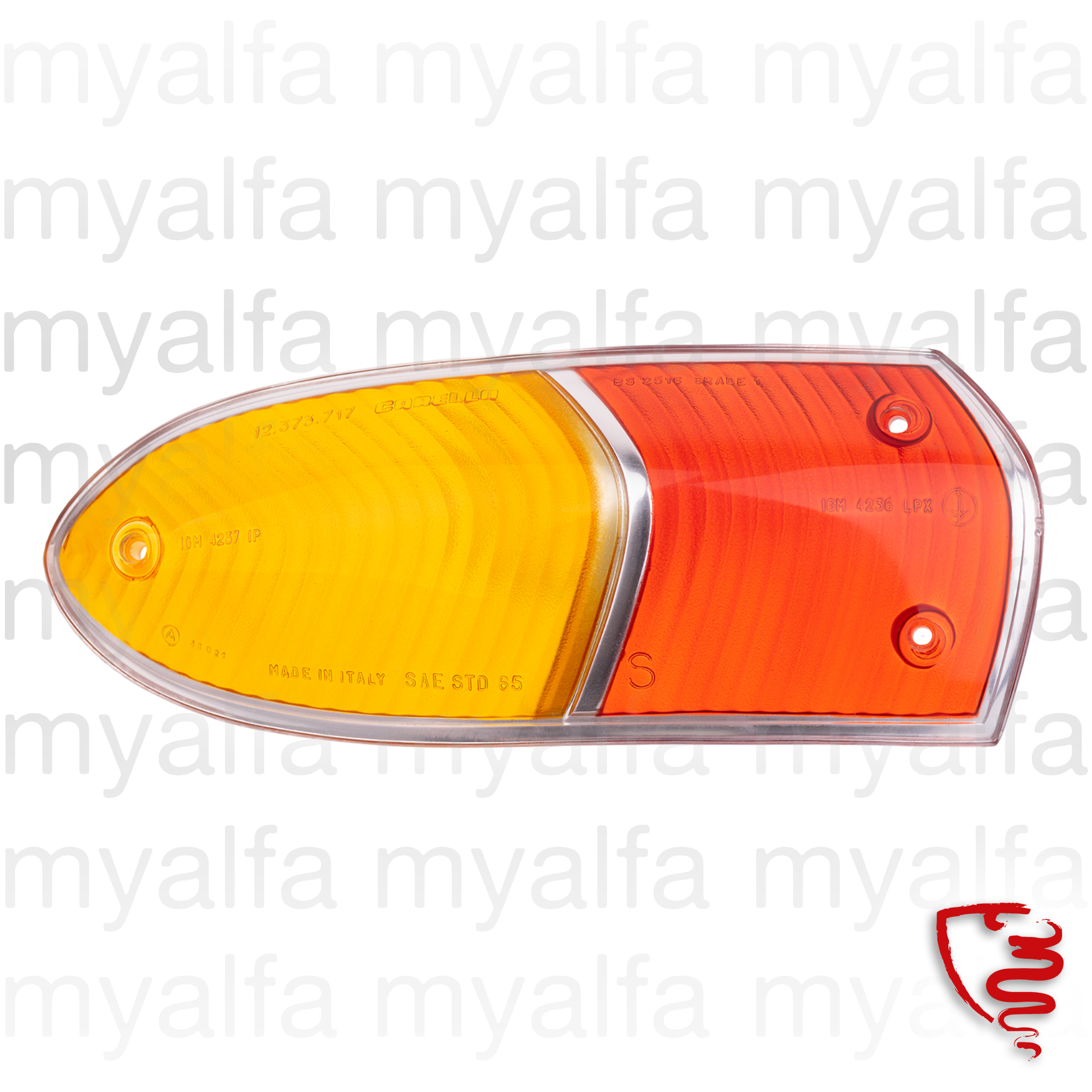 Glass back left taillight Spider 66-69 for 105/115, Spider, Body parts, Lighting, Indicators