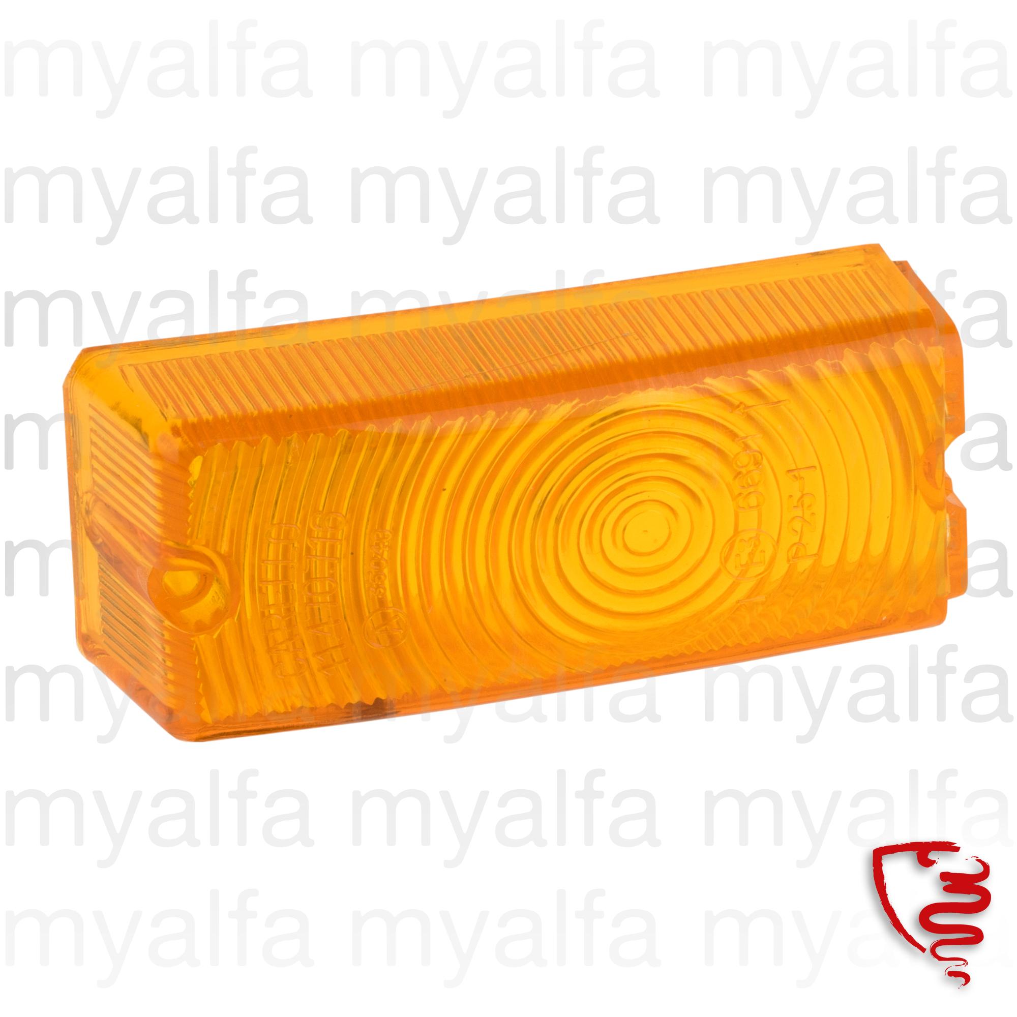 Lens flashes w / orange 1962-73 dividing Carello Giulia for 105/115, Giulia, Body parts, Lighting, Indicators