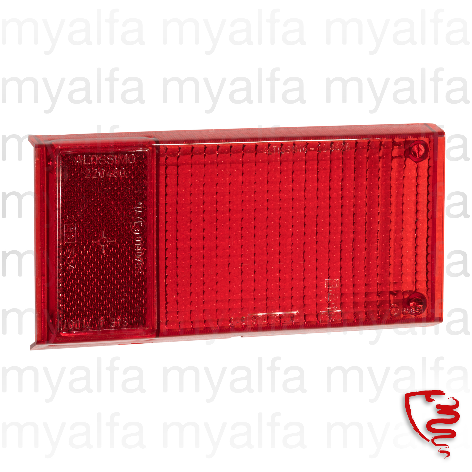 Glass taillight behind Altissimo Spider70-82 dt for 105/115, Spider, Body parts, Lighting, Tail lights