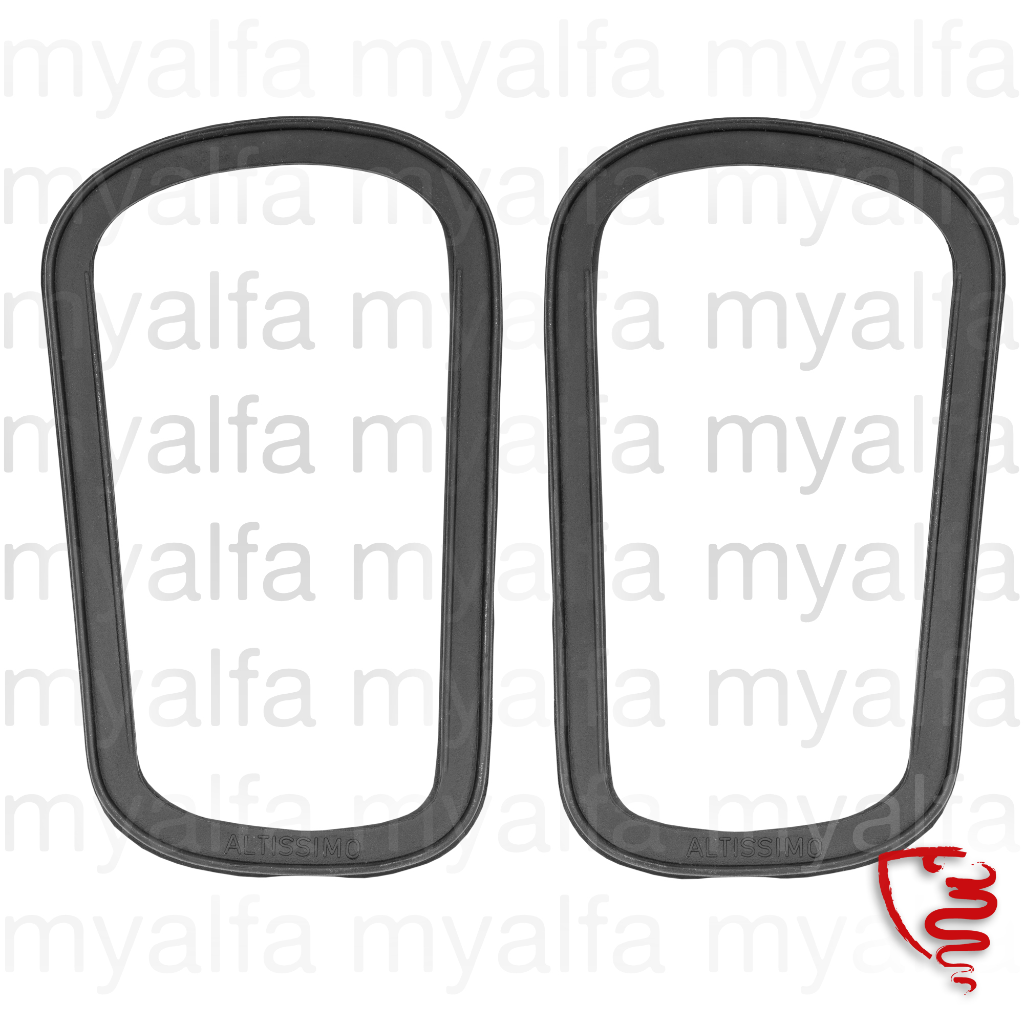 Set rubber seal body / taillight flashers for 105/115, Coupe, Body parts, Lighting, Indicators