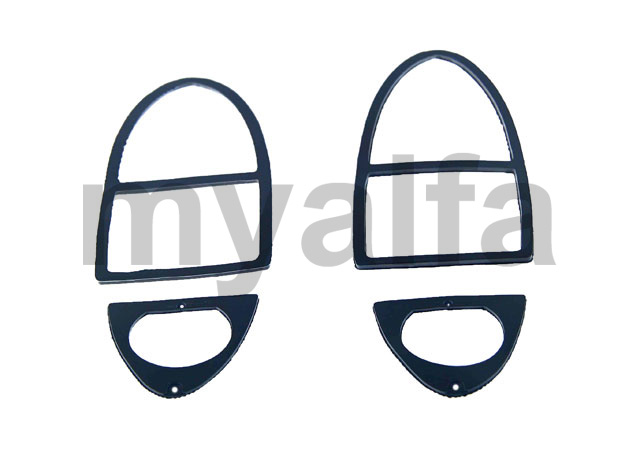 Set headlight back rubbers (750/101) 2nd series for 750/101, Spider, Body parts, Lighting, Tail lights