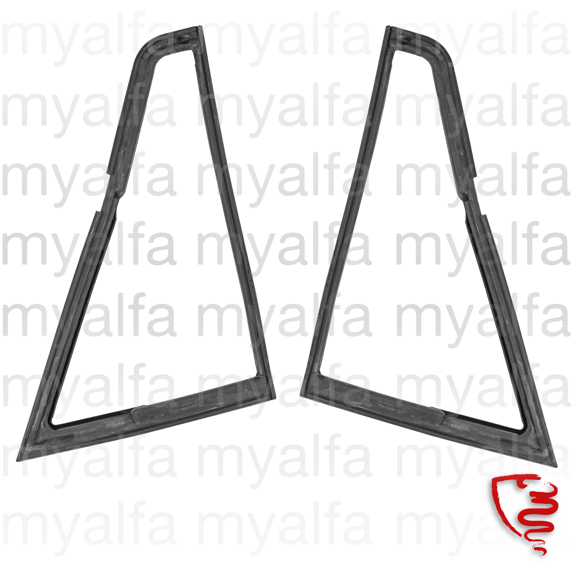 Set the triangle rubbers fr window. Giulia for 105/115, Giulia, Body parts, Rubber parts, Door grommets/felt/seals
