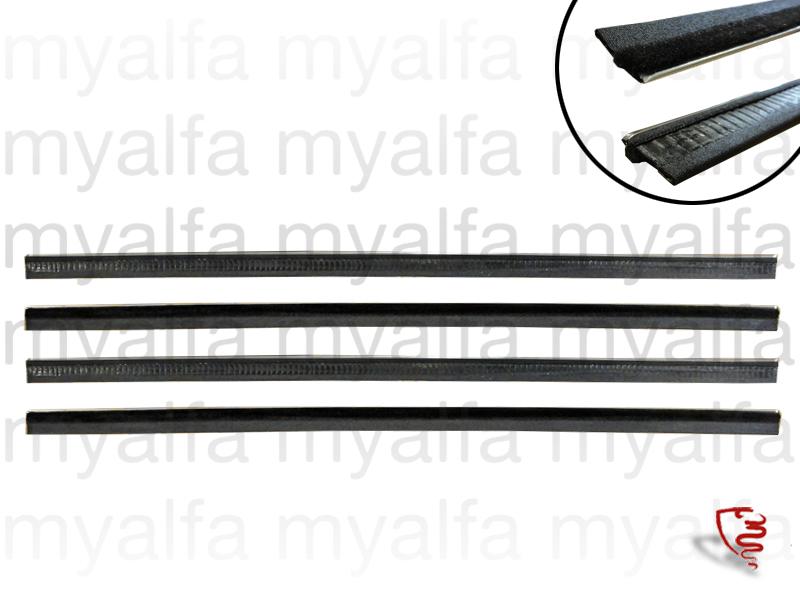 Jg Glasses scrapers Giulietta / Giulia (750/101) Spider for 750/101, Spider, Body parts, Rubber parts, Door grommets/felt/seals