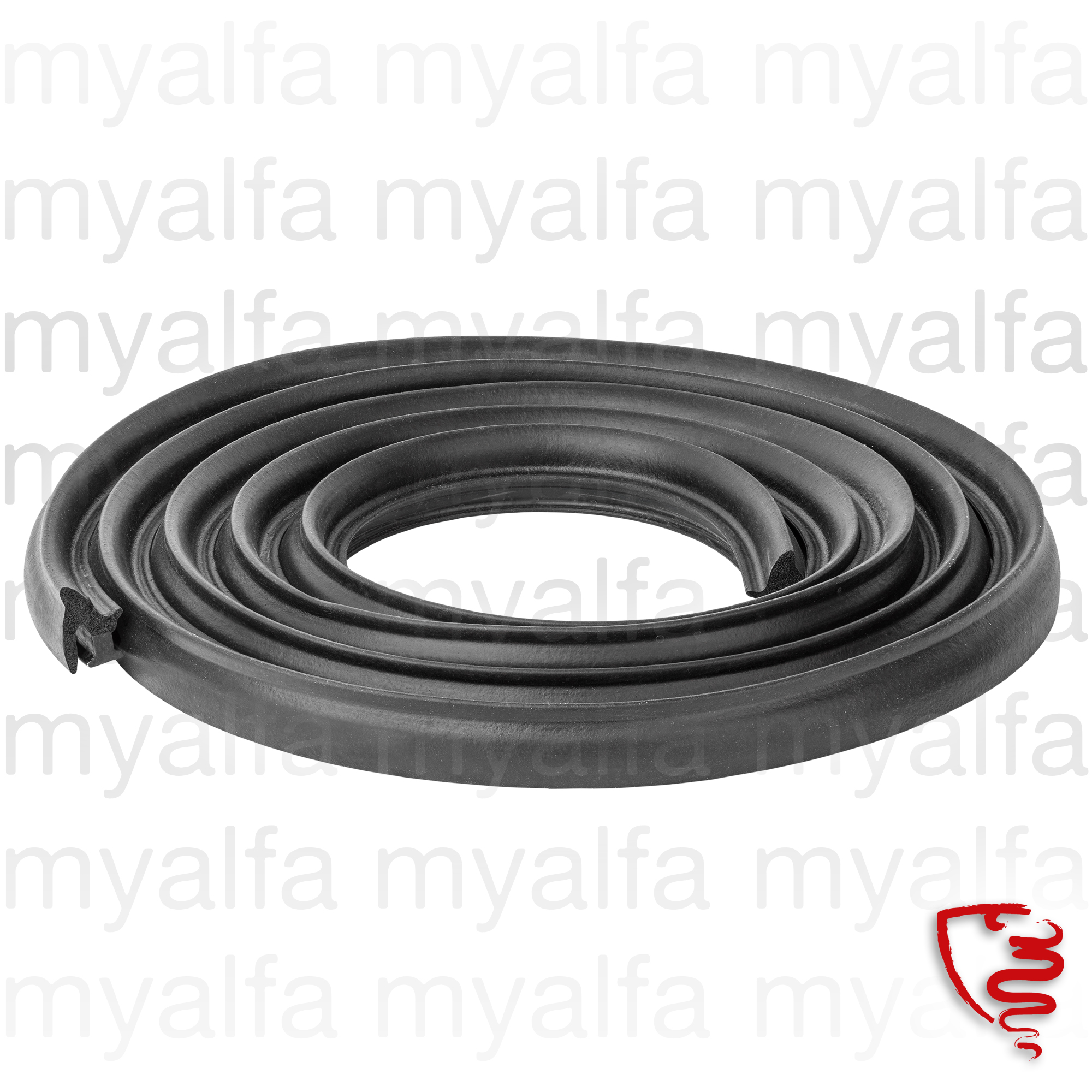 Rubber door - both doors and sides E / D and F / T for 105/115, Giulia, Berlina, Body parts, Rubber parts, Door seals