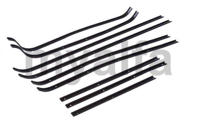 Set strips (D / E 10 pcs.) Of the door bracket rubbers for 105/115, Coupe, Body parts, Rubber parts, Door seals