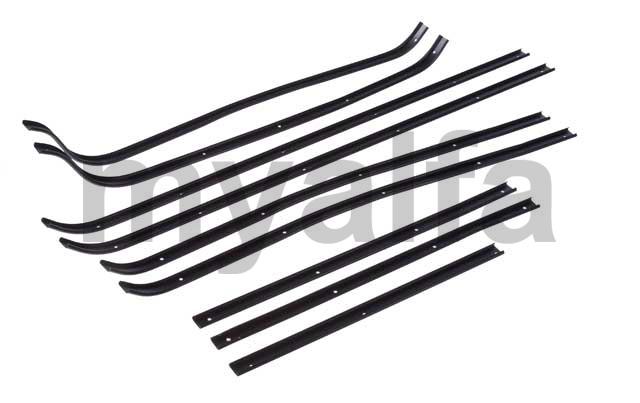 Set strips (D / E 10 pcs.) Of the door bracket rubbers for 105/115, Coupe, Body parts, Rubber parts, Door seals