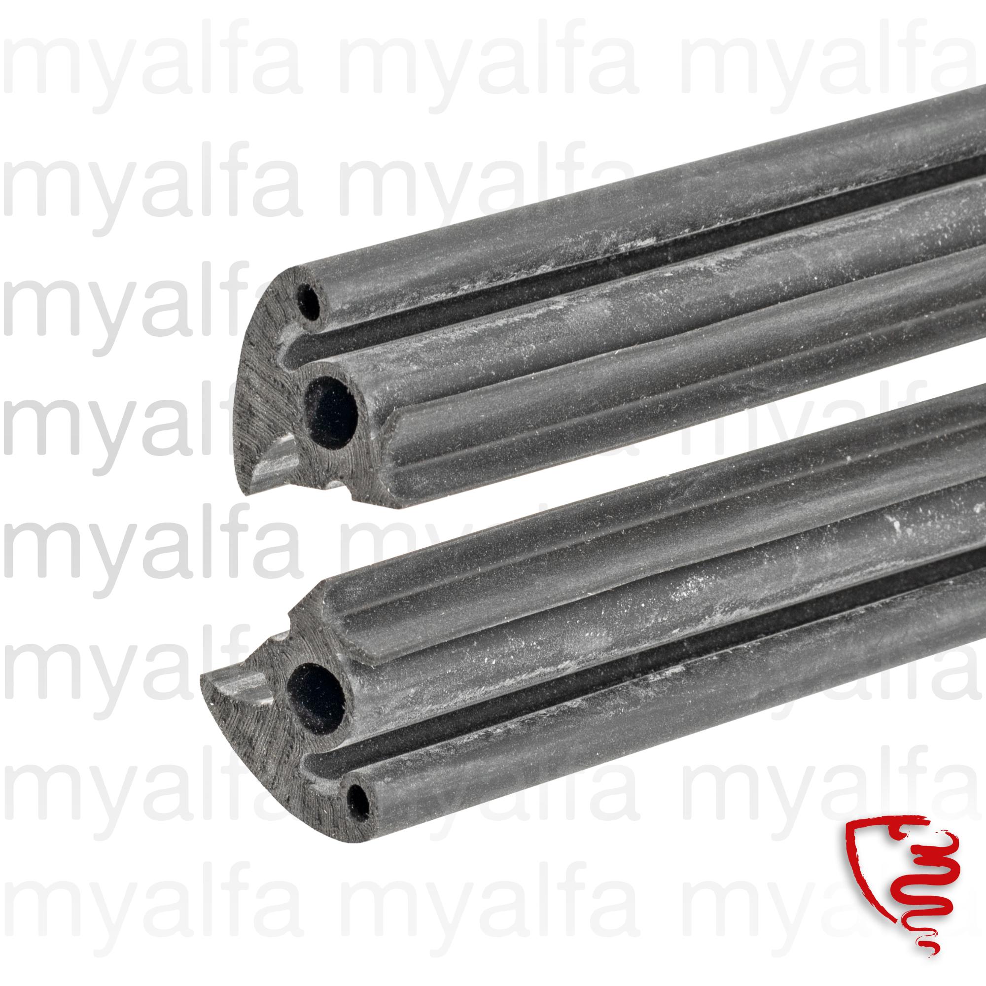 Jg. rubber door seals 750 Spider for 750/101, Spider, Body parts, Rubber parts, Door seals