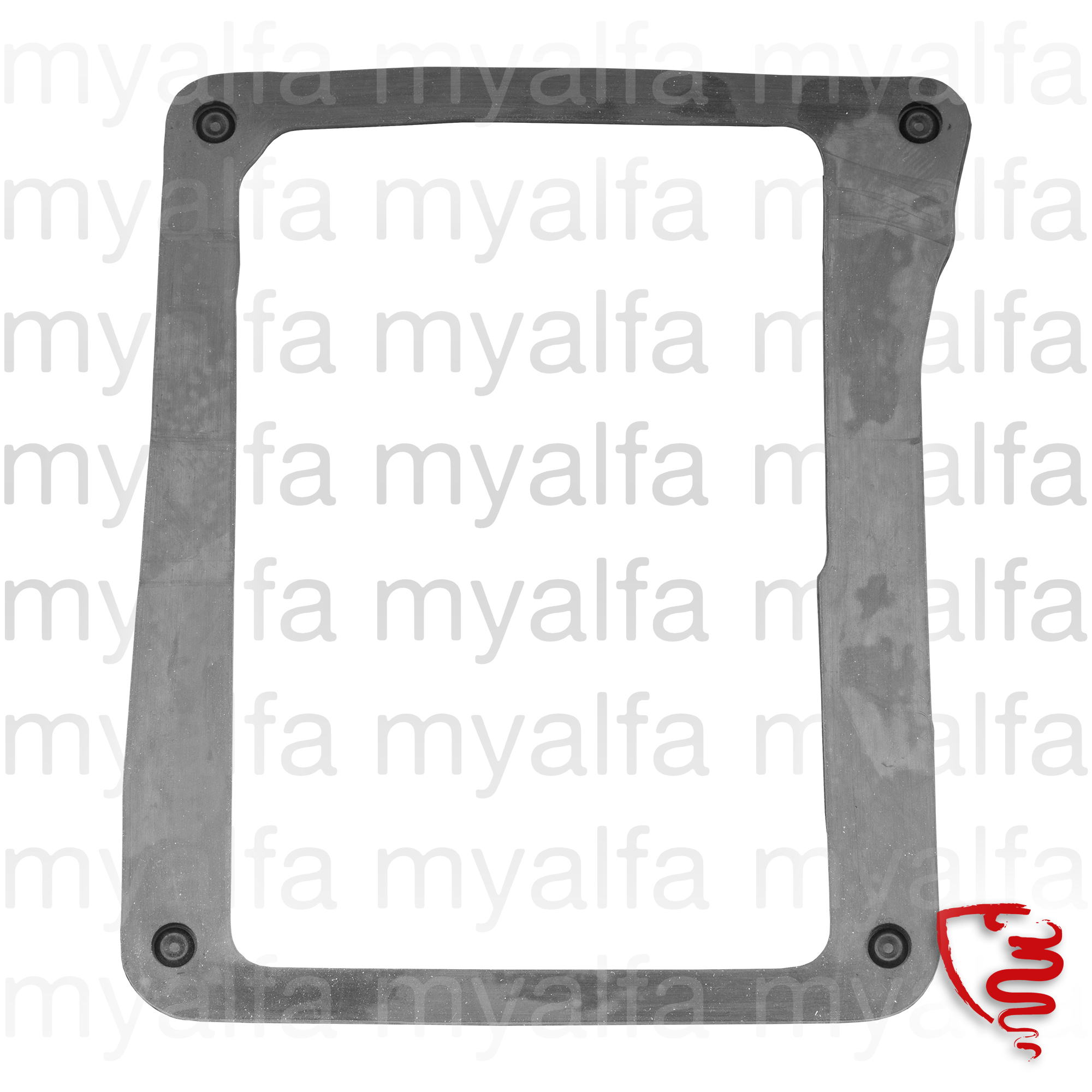 Rubber the suspended floorboard frame for 105/115, Pedals