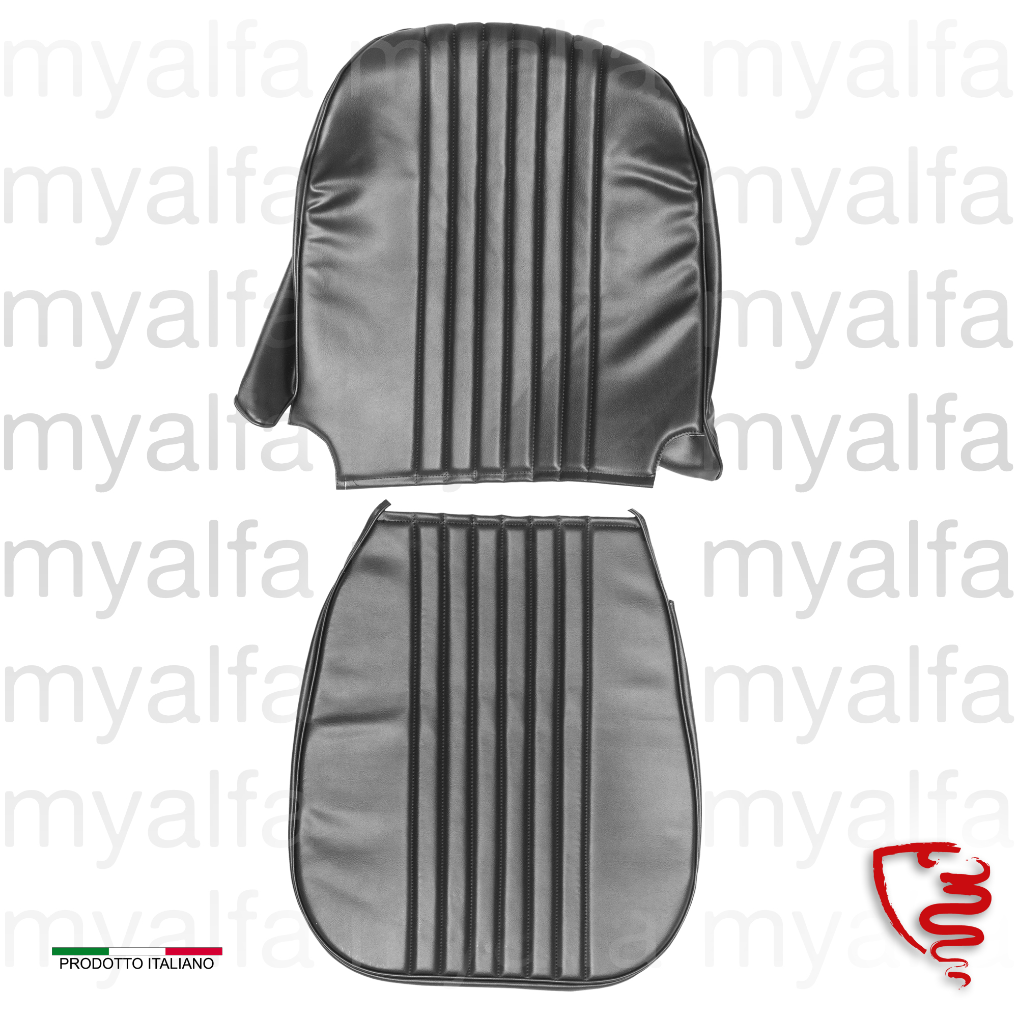 Jg. covers left bank. GT Junior 1300/1600 - Black for 105/115, Coupe, Junior, Interior, Seats, Seat covers