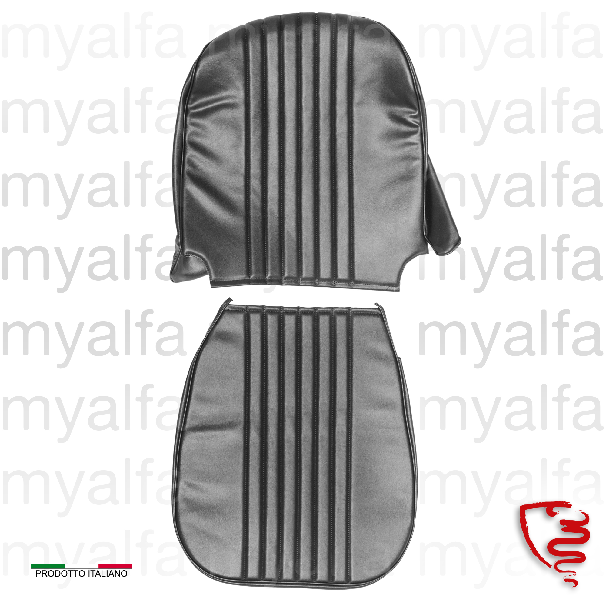 Jg. covers bank drt. GT Junior 1300/1600 - Black for 105/115, Coupe, Junior, Interior, Seats, Seat covers