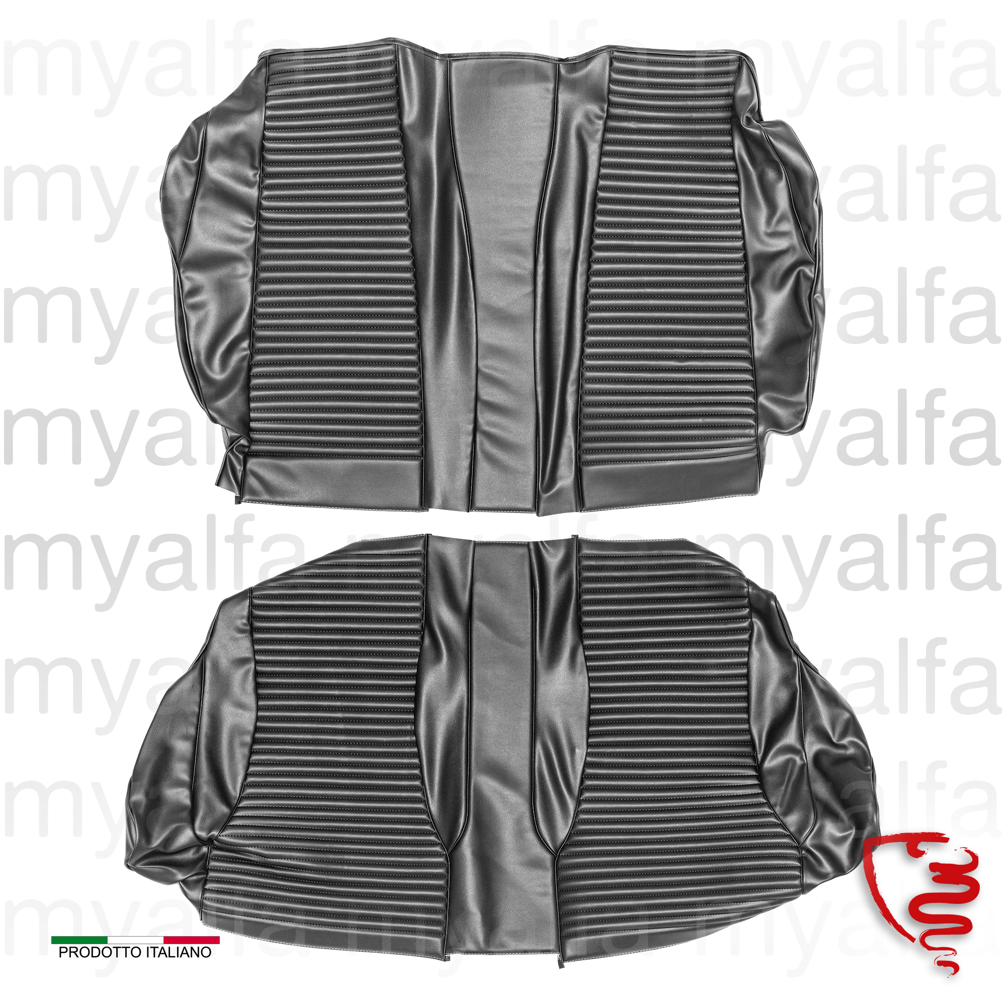 Cover the rear seats GTV 2000 - Black Scay for 105/115, Coupe, 2000, Interior, Seats, Seat covers