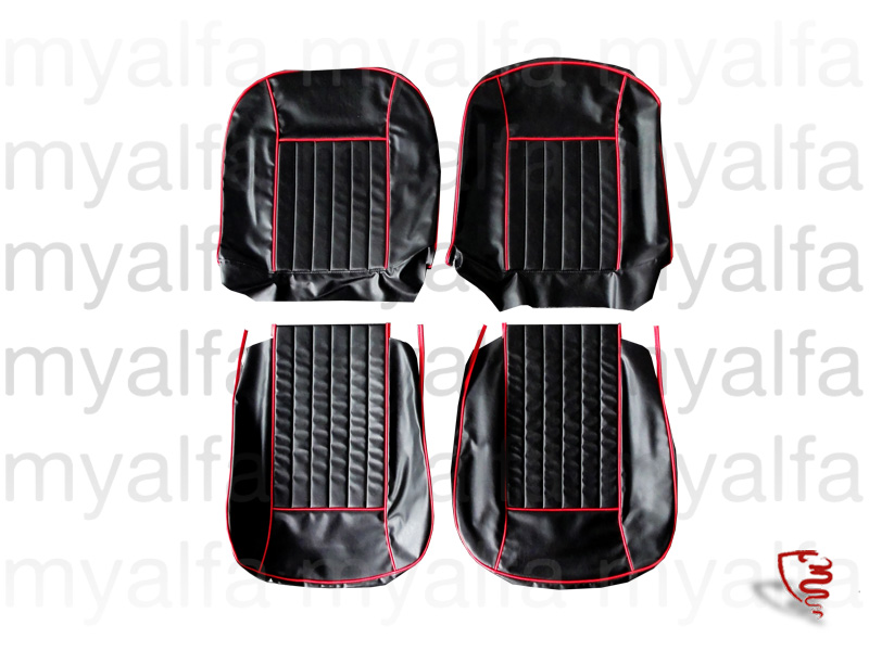 Set covers for two seats - Ggiulia spider type 101 for 750/101, Spider, Interior, Seats, Seat covers