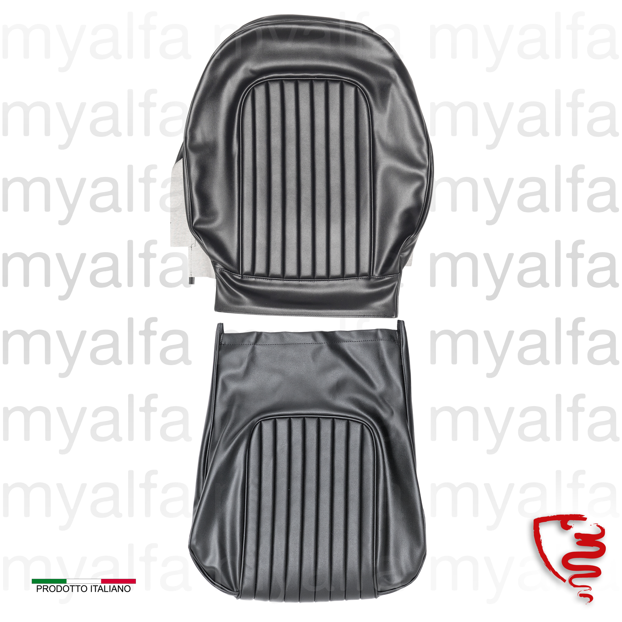 Cover black vinyl seat Spider w / back for 105/115, Spider, Interior, Seats, Seat covers