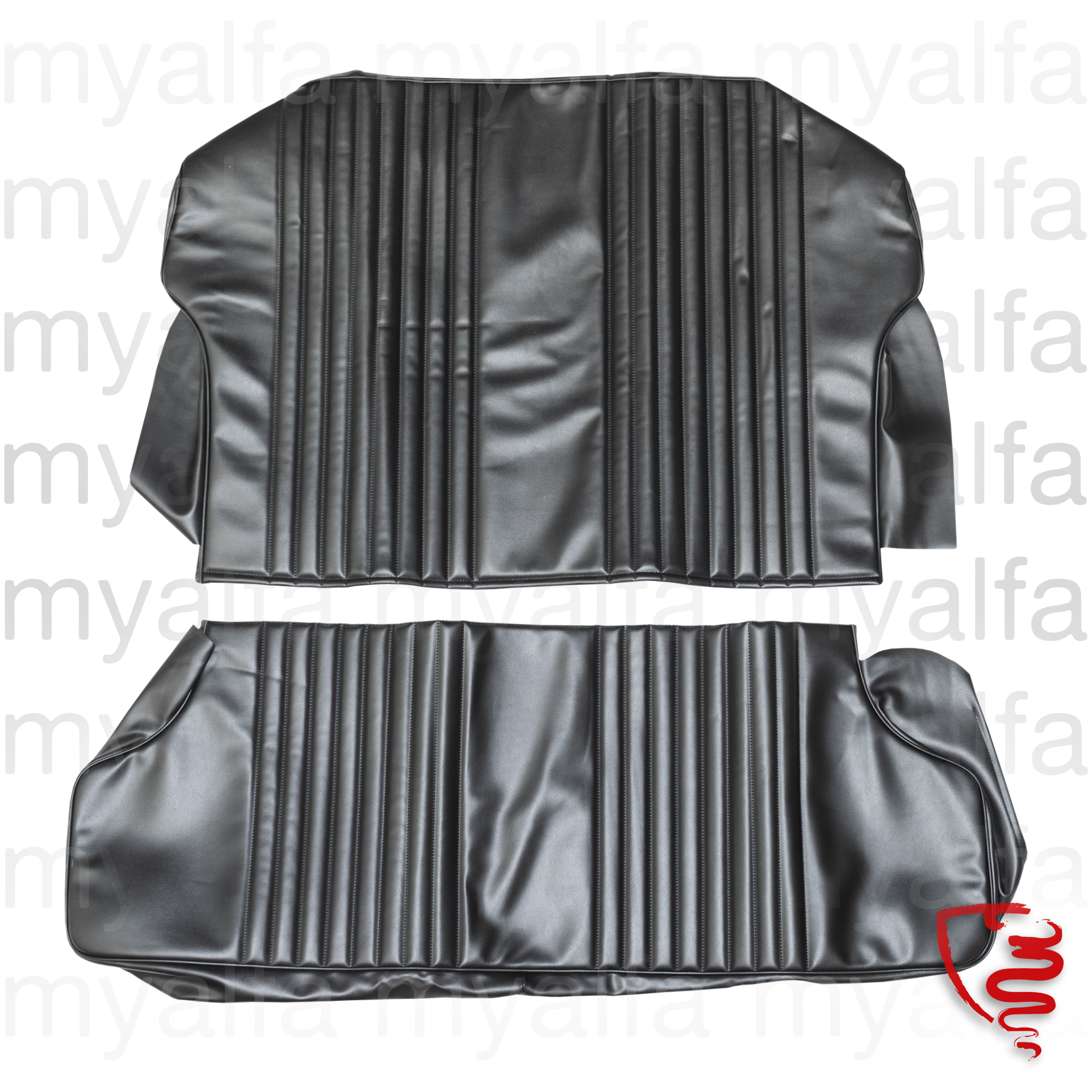 Jg. covers rear seat GT Junior 1300/1600 - Black for 105/115, Coupe, Interior, Seats, Seat covers