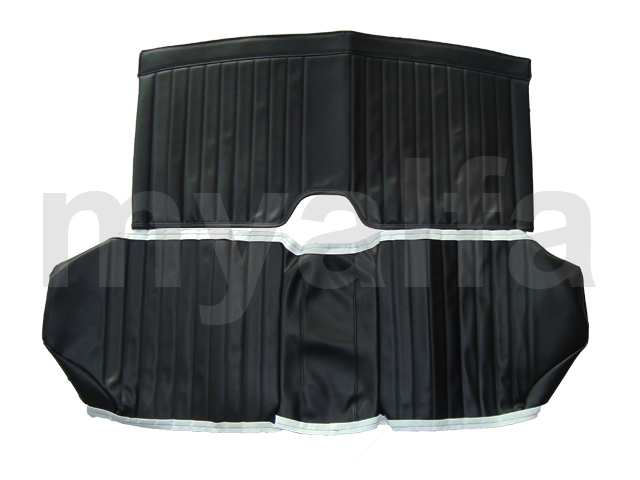 Set covers rear seats Spider 1970-77 Black for 105/115, Spider, Interior, Seats, Seat covers