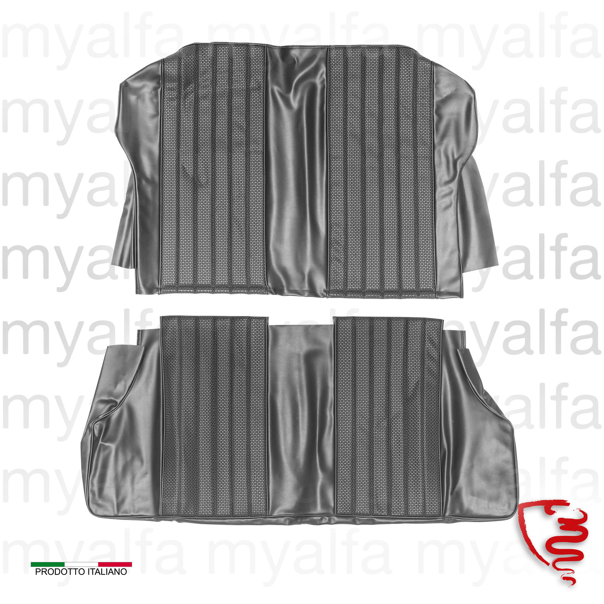 Covers rear seats SPRINT GTV 1600 - Black for 105/115, Coupe, Giulia Sprint GT, Interior, Seats, Seat covers