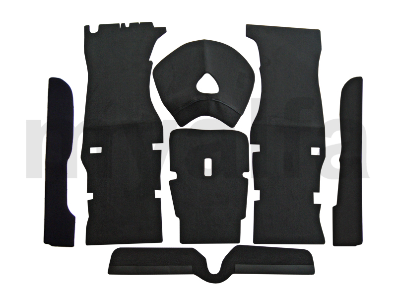 Set interior carpets GT Bertone - Black for 750/101, Spider, Interior, Flooring, Carpet sets
