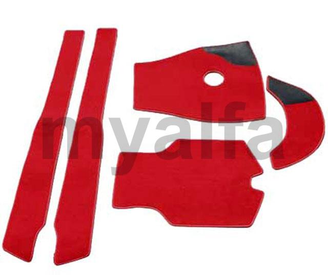 carpet set Giulia Spider (750.F) Red for 750/101, Spider, Interior, Flooring, Carpet sets