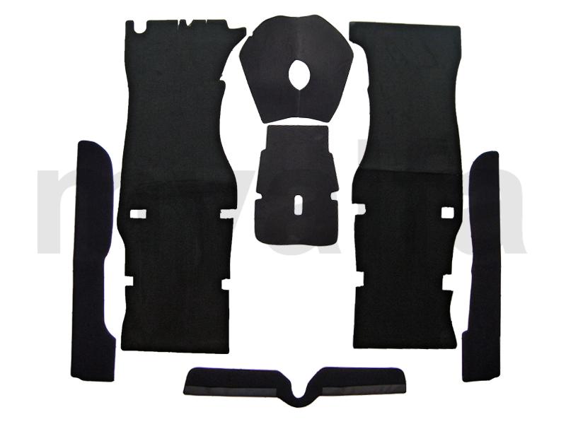 Carpets game for GT bertone black velvet for 105/115, Coupe, Interior, Flooring, Carpet sets