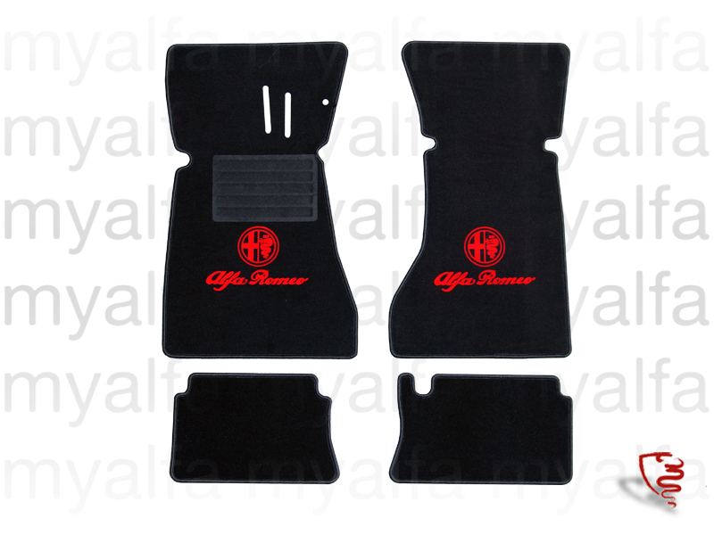 Set of mats w / GT Bertone pedals below for 105/115, Coupe, Interior, Flooring, Foot mats