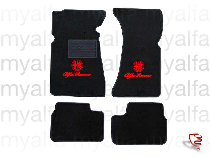 Set of mats w / GT Bertone pedals on for 105/115, Coupe, Interior, Flooring, Foot mats