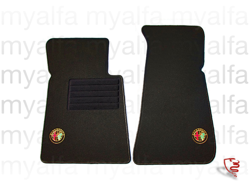 Set mats with embroidered badge spider 86-93 for 105/115, Spider, Interior, Flooring, Foot mats