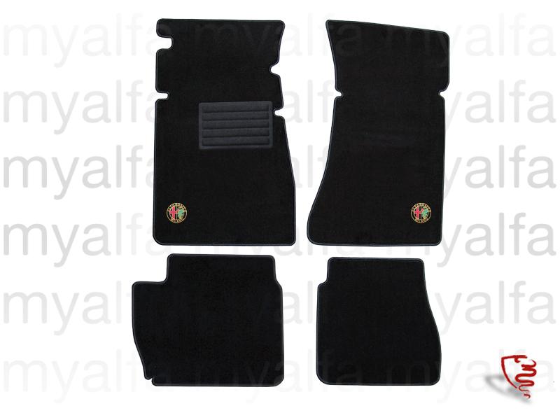 Set carpets p / Giulia pedals on for 105/115, Giulia, Interior, Flooring, Foot mats