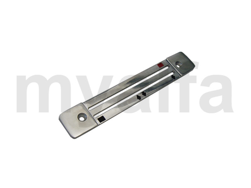 Polished aluminum plate in the car sofagem s / center console for 105/115, Interior, Centre console, Trim / knobs / comands