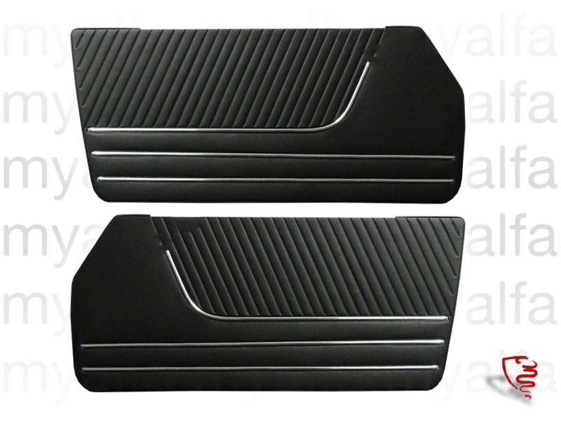 Game panels door (Esqº and dt) 66-78 Spider - Black for 105/115, Spider, Interior, Doors, Panels and Covers