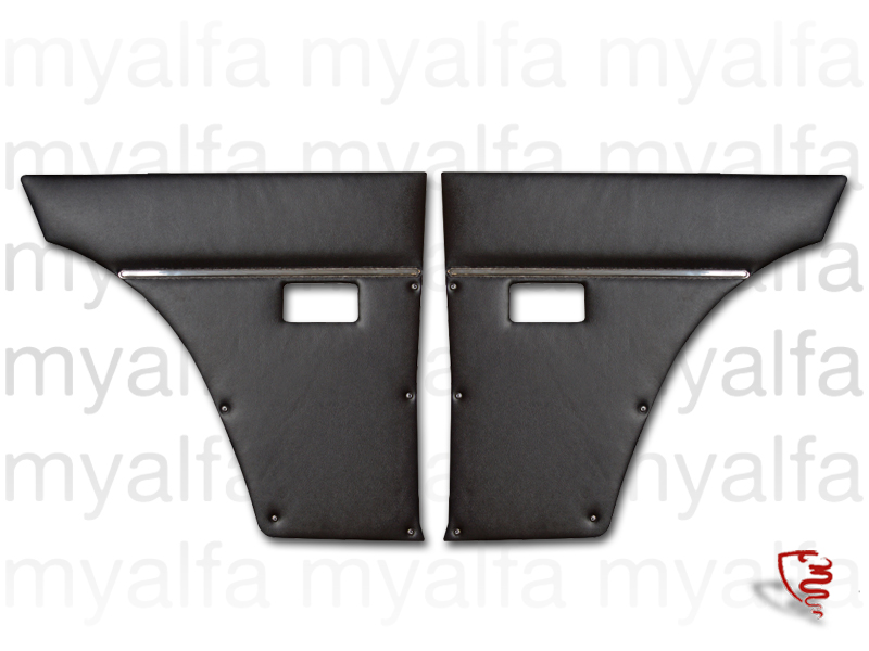 Game pasterns back black 1st series for 105/115, Coupe, 1750, Giulia Sprint GT, GTC, Junior, Interior, Doors, Panels and Covers