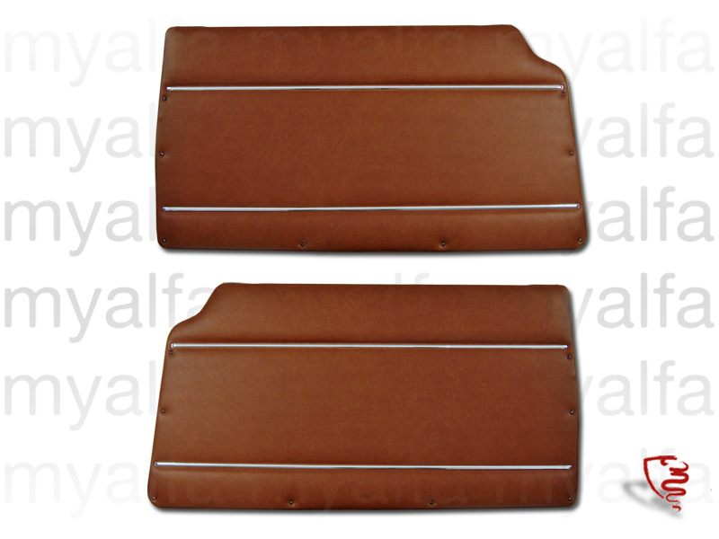 Game front pasterns in brown '574' for 105/115, Coupe, 1750, Giulia Sprint GT, GTC, Junior, Interior, Doors, Panels and Covers