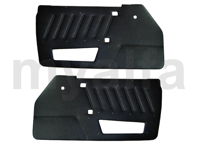 Set pasterns Spider 1990-93 Black for 105/115, Spider, Interior, Doors, Panels and Covers